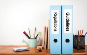 folders on a table